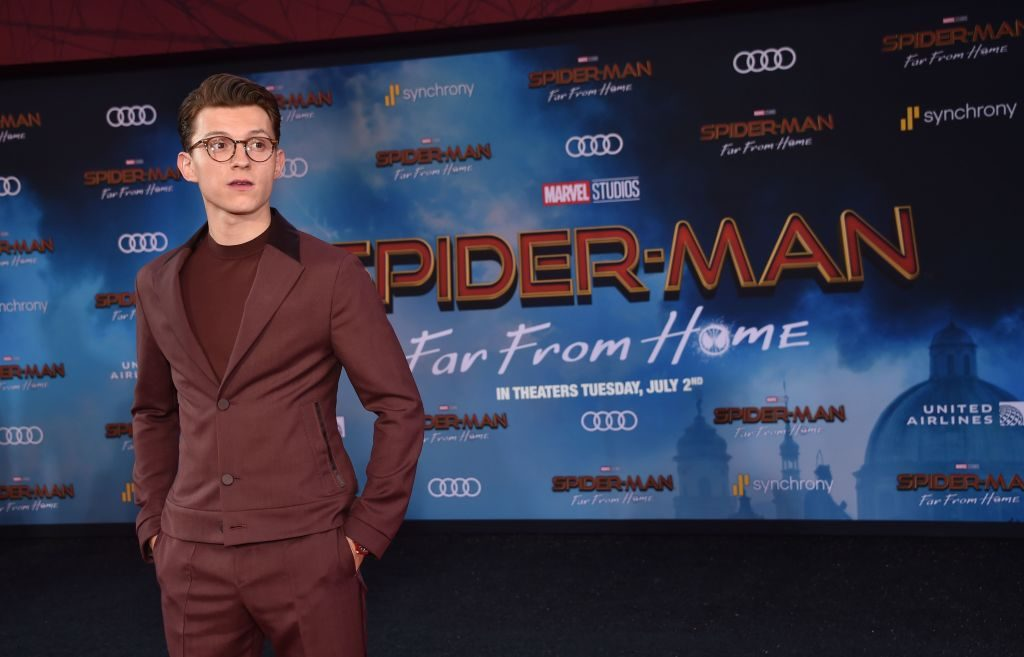 Tom Holland at the Spider-Man: Far From Home premier