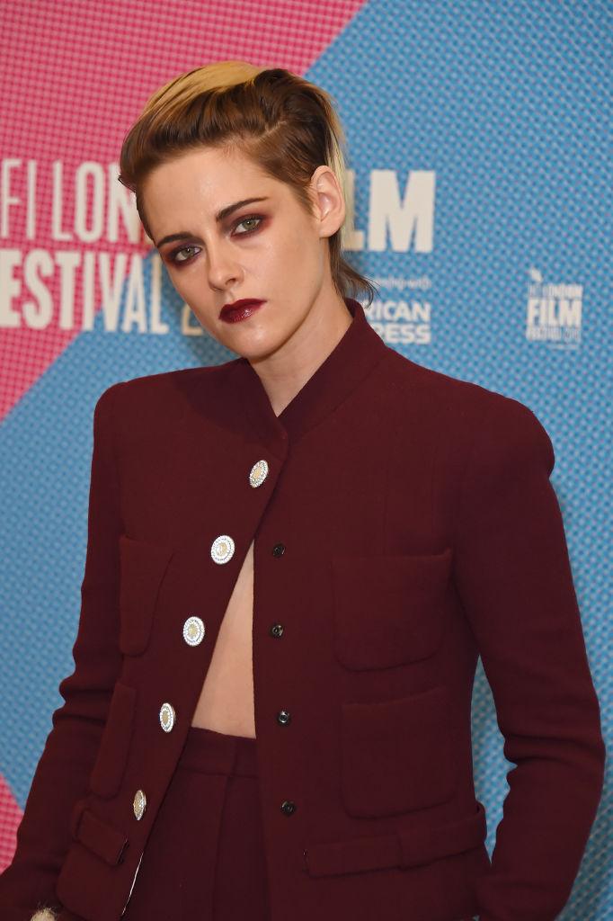 Kristen Stewart on the red carpet at BFI London Film Festival.