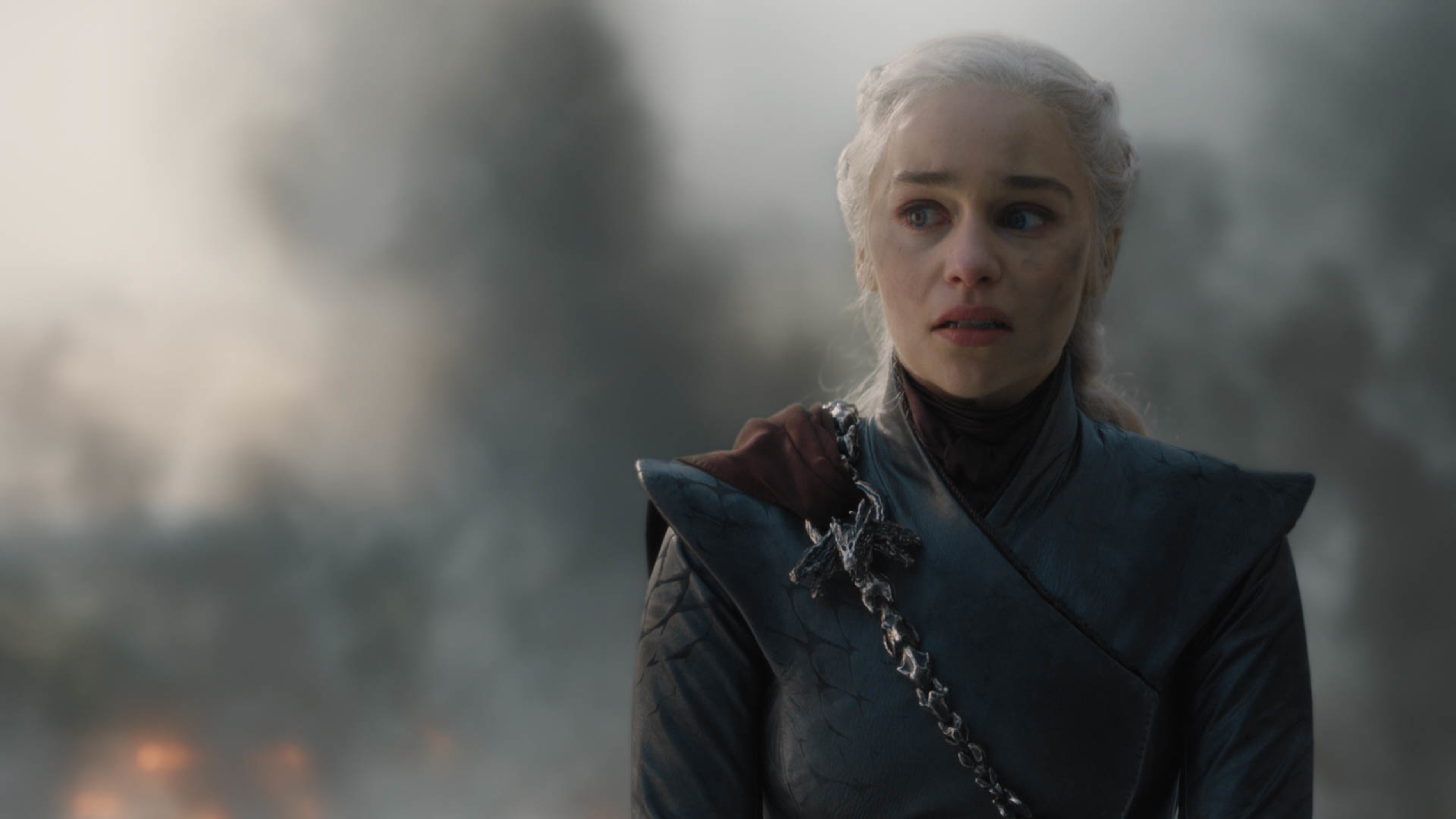 Daenerys right before she decides to burn all of King's Landing (Season 8, Episode 5 of 'Game of Thrones').