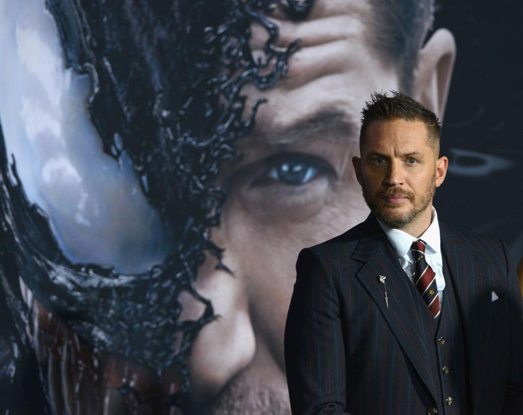 Tom Hardy at the 'Venom' premiere.