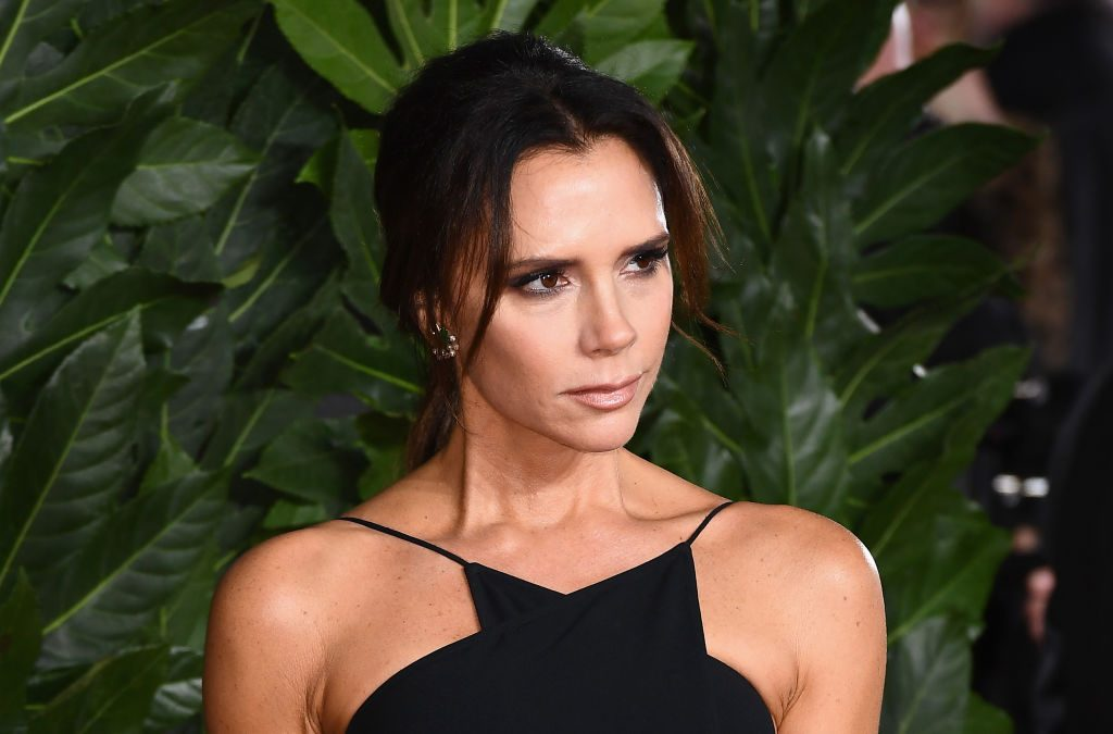 Victoria Beckham arrives at The Fashion Awards 2018.