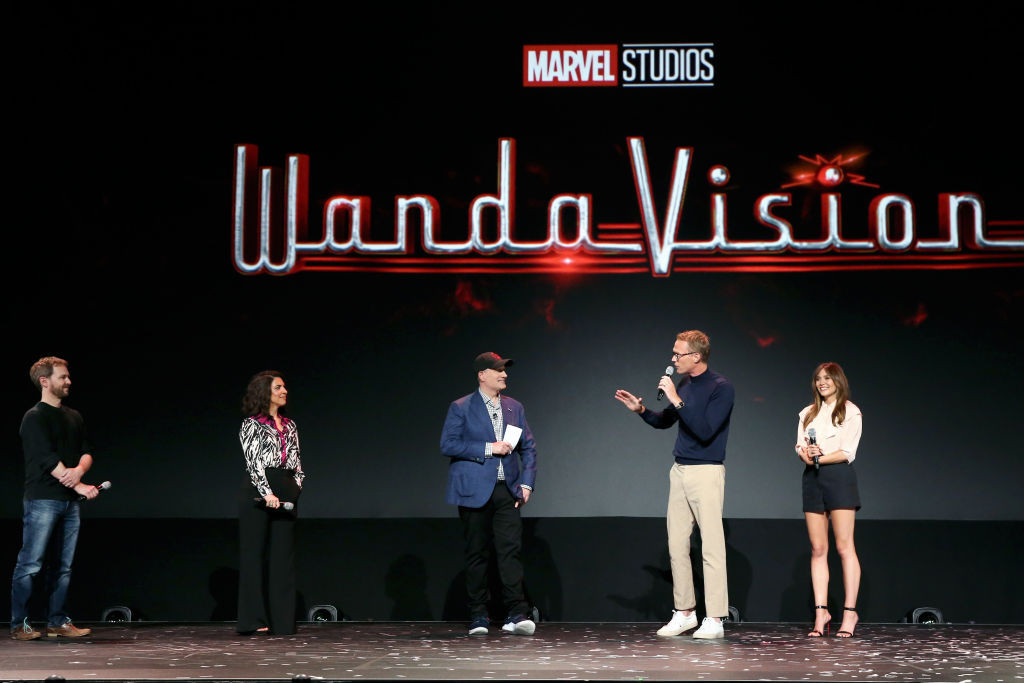The cast of 'WandaVision' at the D23 Expo