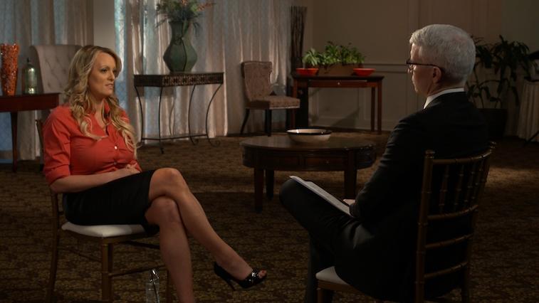 Anderson Cooper intervies Stormy Daniels