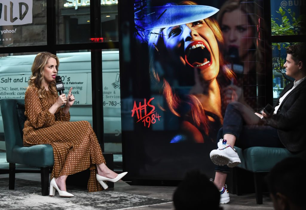 "Leslie Grossman attends the Build Series to discuss the FX show ""American Horror Story 1984"""