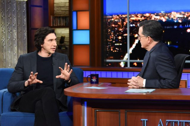 Adam Driver on 'The Late Show with Stephen Colbert'