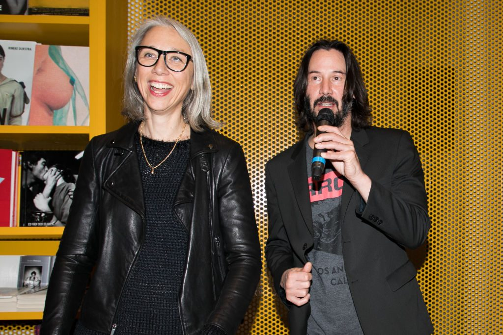 (L-R) Alexandra Grant and actor Keanu Reeves