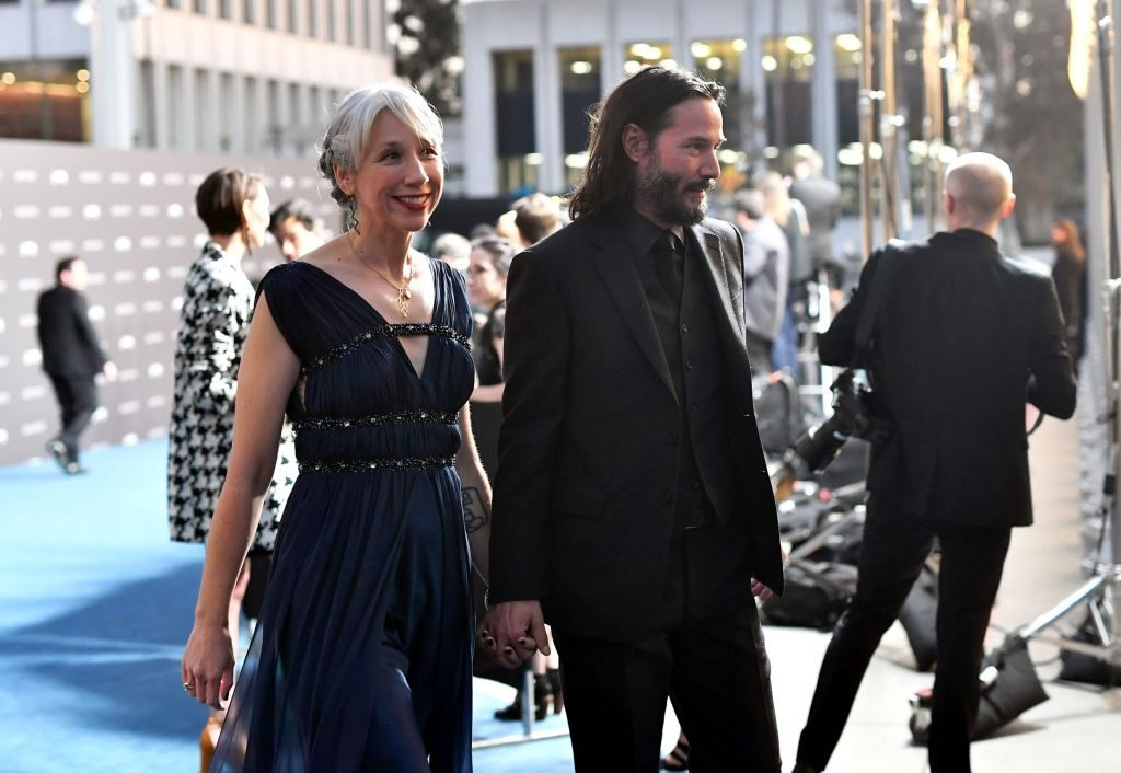 (L-R) Alexandra Grant and Keanu Reeves attend the 2019 LACMA Art + Film Gala Presented By Gucci