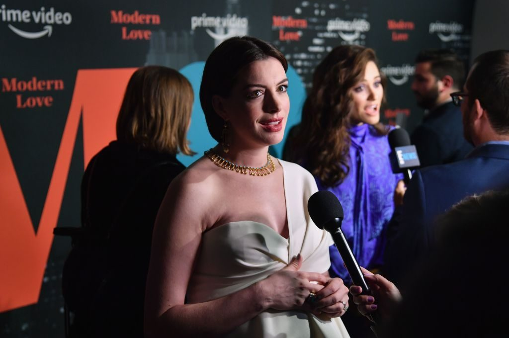 "Anne Hathaway attends the Amazon Prime Video ""Modern Love"" premiere reception 