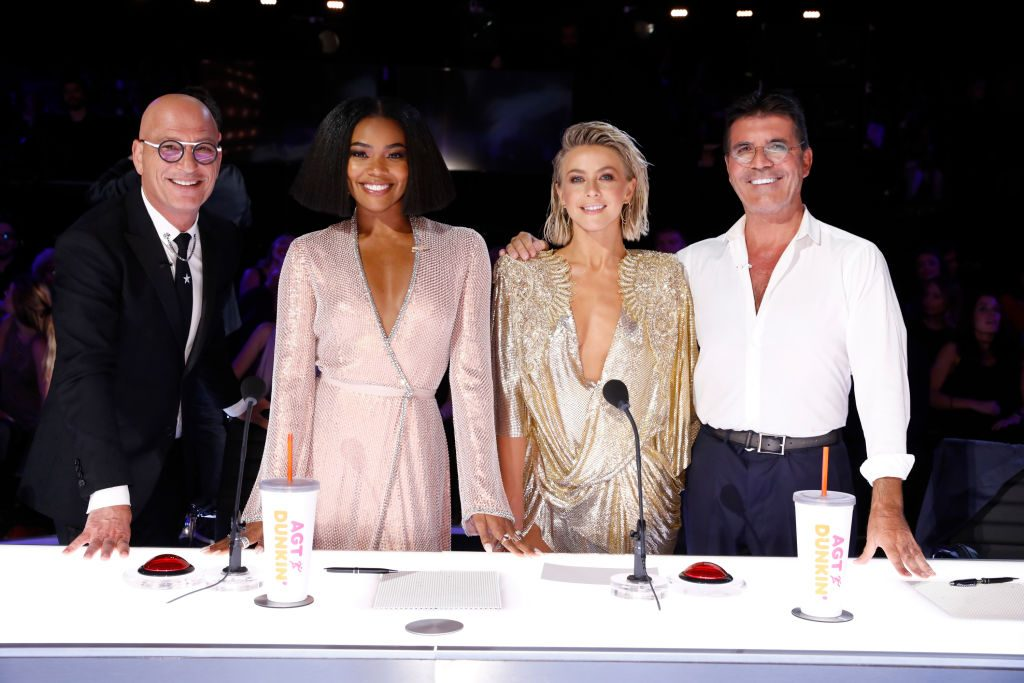 Howie Mandel, Gabrielle Union, Julianne Hough, Simon Cowell on 'America's Got Talent'