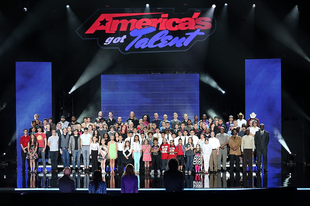Contestants of season 8 of America's Got Talent standing on stage