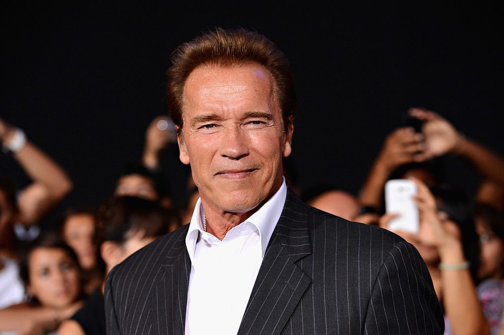"Arnold Schwarzenegger arrives at Lionsgate Films' ""The Expendables 2"" premiere."