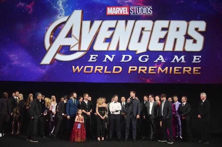 Avengers Endgame cast at the world premiere