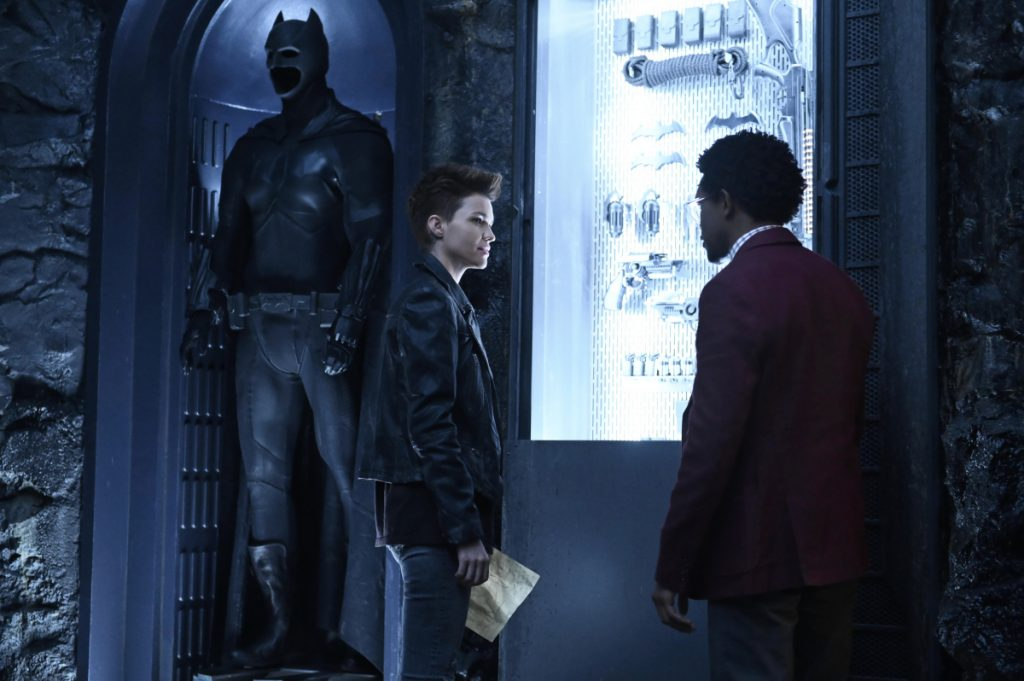 Batwoman in The Batcave
