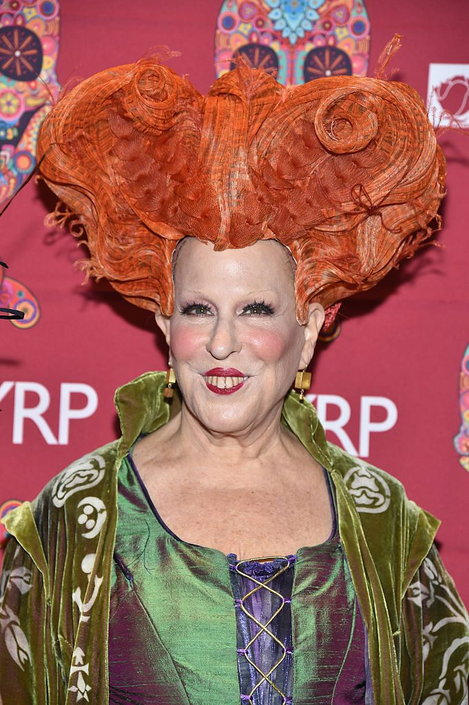 Bette Midler dressed as her 'Hocus Pocus' character