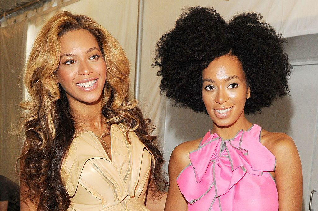 Beyonce and Solange Knowles at a fashion event