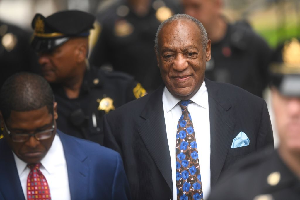 Bill Cosby at a courthouse