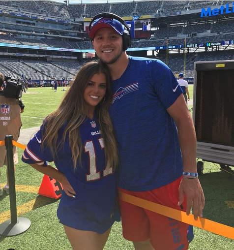 Bills quarterback Josh Allen with girlfriend, Brittany Williams