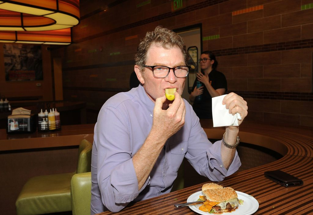 Bobby Flay attends his Bobby's Burger Palace 10 Year Celebration at Bobby's Burger Palace