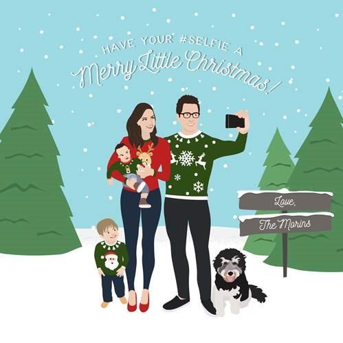 Brit Morin holiday card