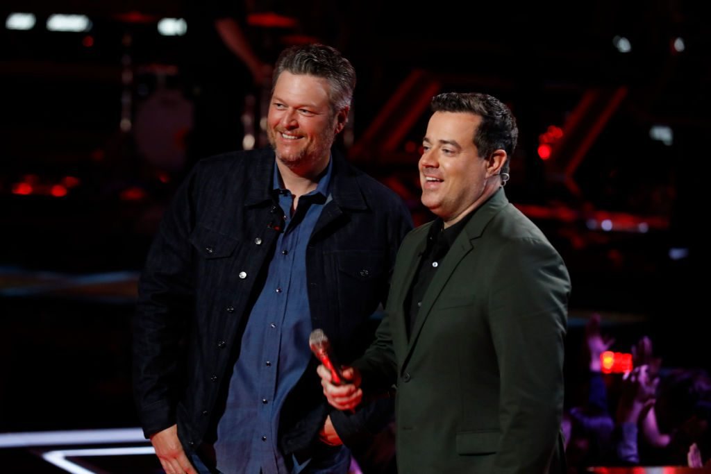 Blake Shelton and Carson Daly on 'The Voice'