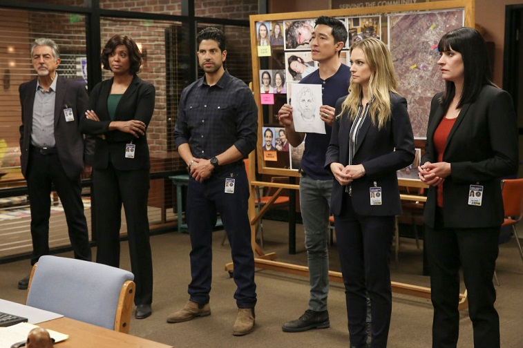 Joe Mantegna, Aisha Tyler, Adam Rodriguez, Daniel Henney, A.J. Cook, and Paget Brewster