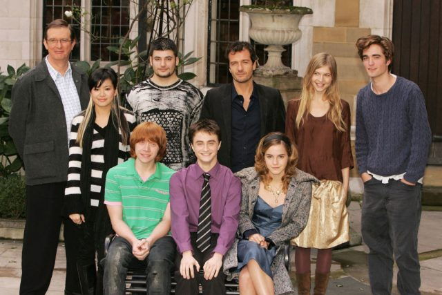 Cast of 'Harry Potter and the Goblet of Fire' in 2005 with director Mike Newell and producer David Heyman