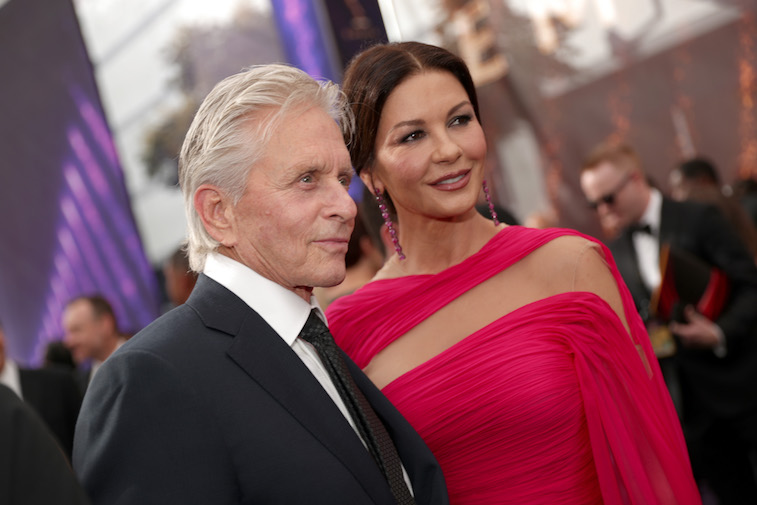 Michael Douglas and Catherine Zeta-Jones walk the red carpet