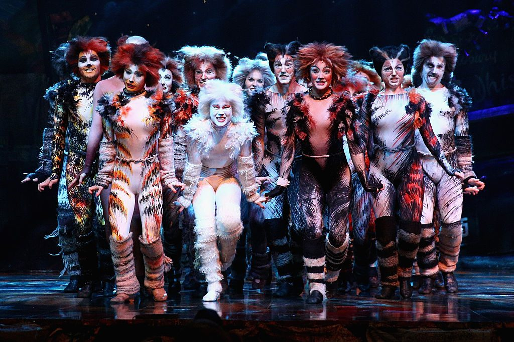 Cast members perform during a media call for CATS at Capitol Theatre