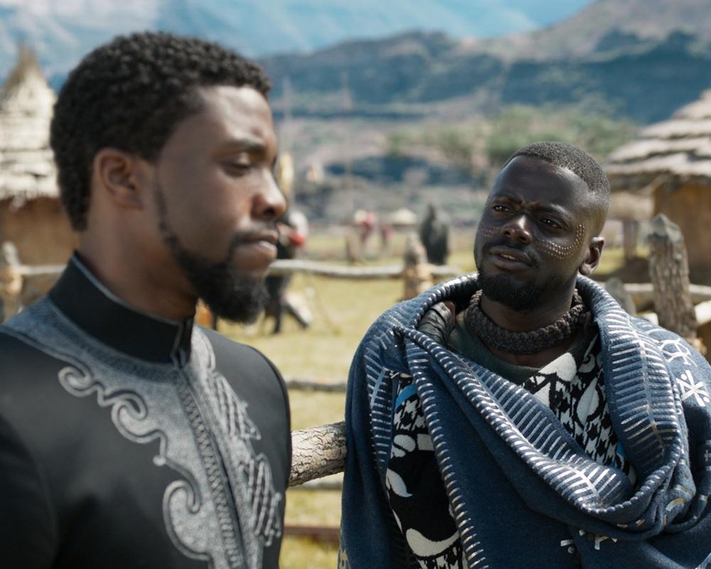 Chadwick Boseman and Winston Duke