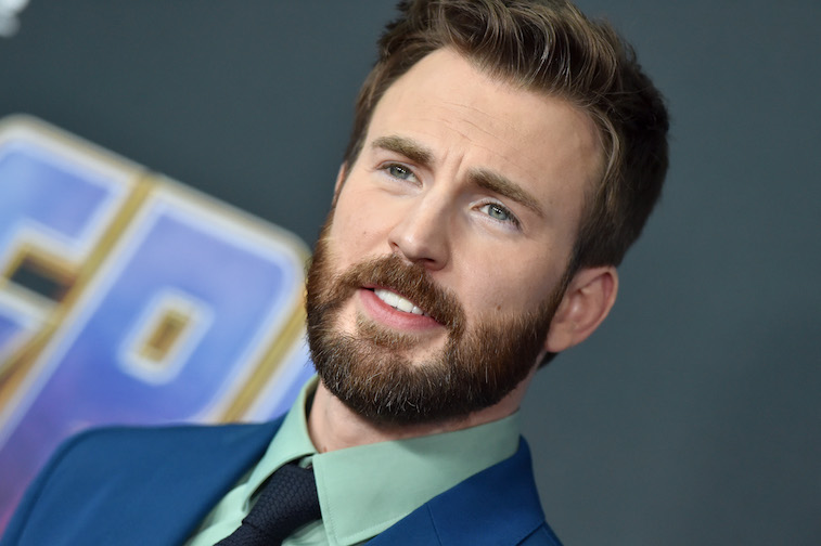 Chris Evans on the red carpet