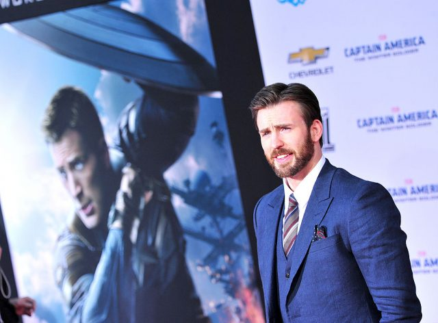Chris Evans at the  premiere of 'Captain America: The Winter Soldier' in 2014.