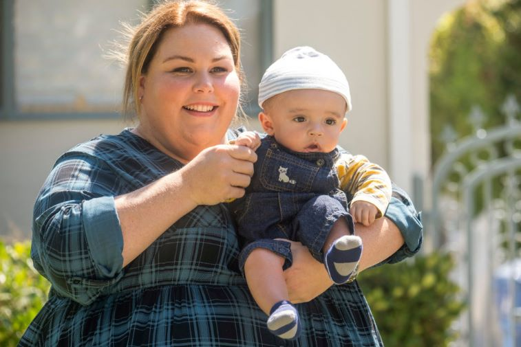 Chrissy Metz as Kate Pearson with Baby Jack