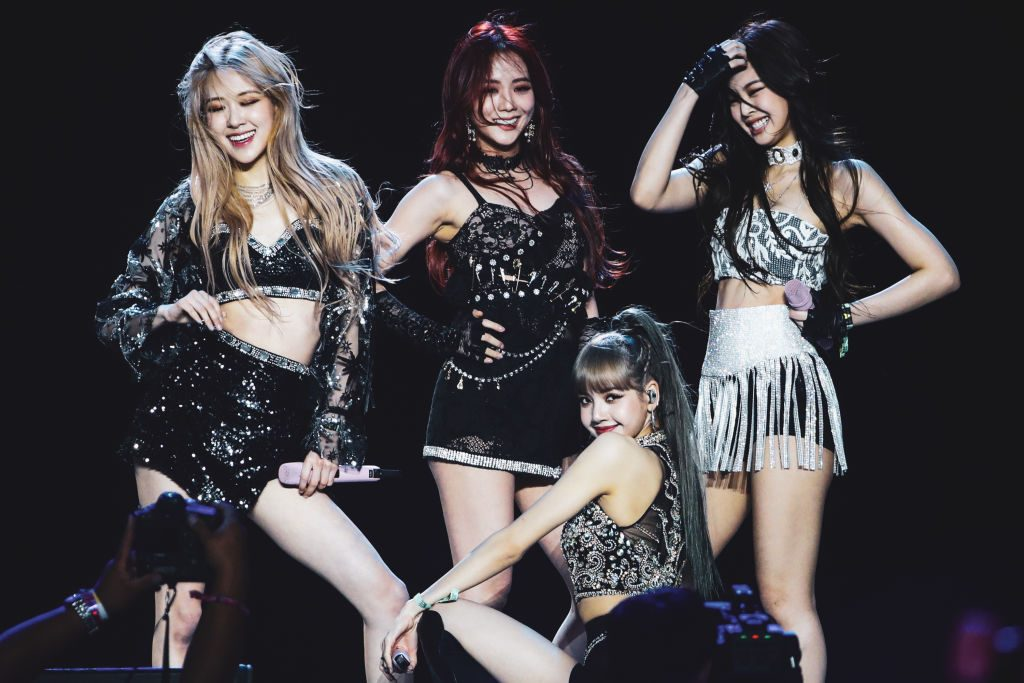 Blackpink perform at Sahara Tent during the 2019 Coachella Valley Music And Arts Festival on April 19, 2019 in Indio, California