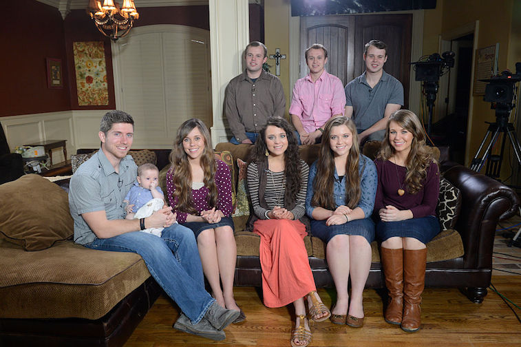 Jessa Duggar and Ben Seewald, left, with some of Duggar's siblings