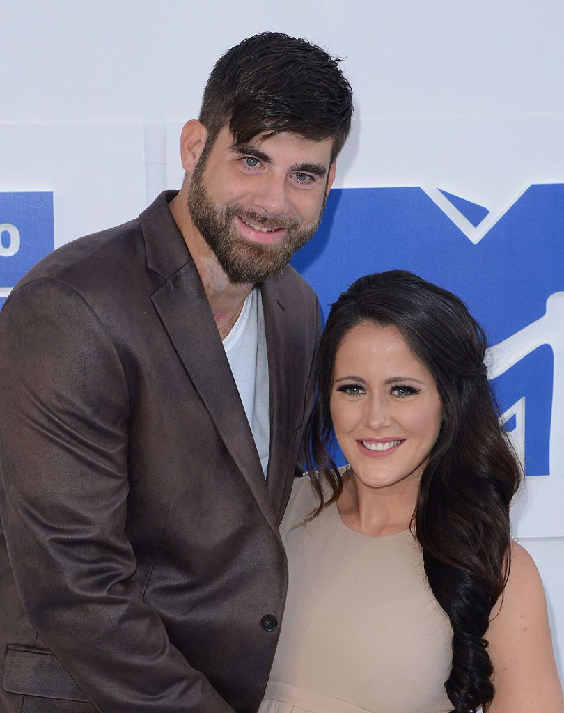 David Eason and Jenelle Evans arrive at the 2016 MTV Video Music Awards