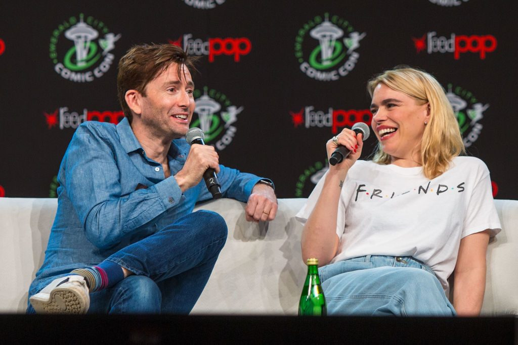 David Tennant (Tenth Doctor)  and Billie Piper (Rose Tyler) of Doctor Who
