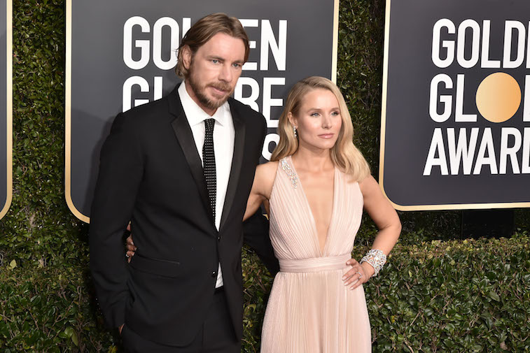 Dax Shepard and Kristen Bell  on the red carpet