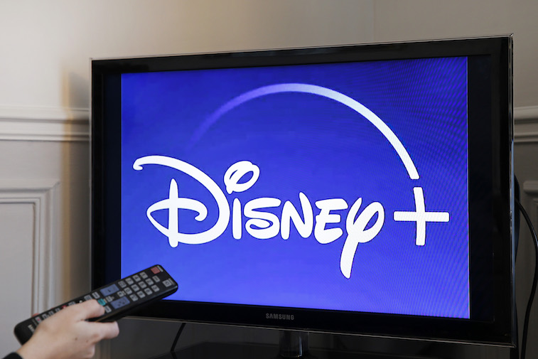 Disney+ logo on a TV screen