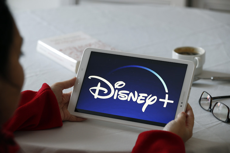 Disney+ app shown on a tablet