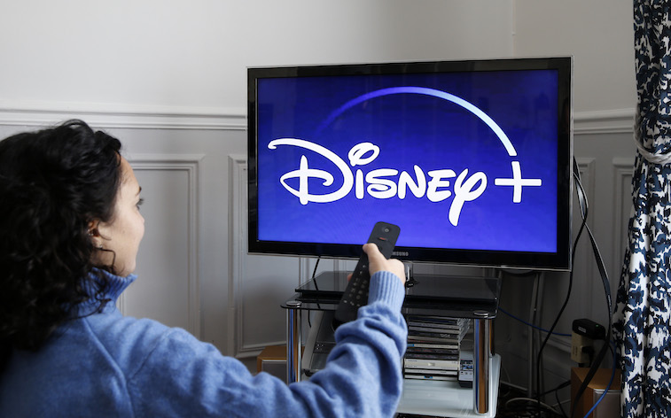 Disney+ app on a television screen