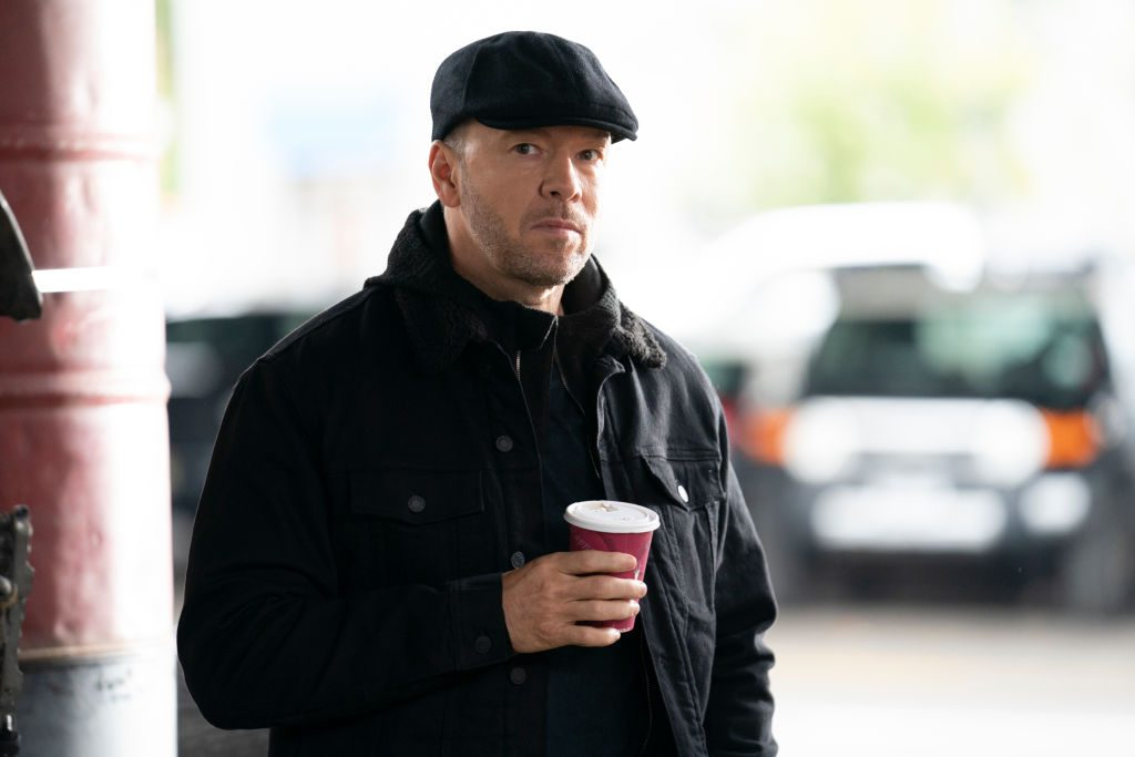 Donnie Wahlberg on the set of Blue Bloods   Patrick Harbron/CBS via Getty Images