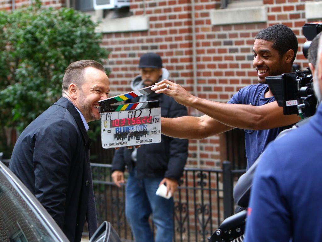 Donnie Wahlberg on the set of Blue Bloods |  Jose Perez/Bauer-Griffin/GC Images