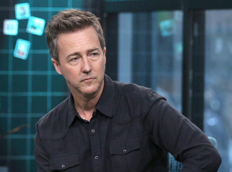 Edward Norton during a TV interview