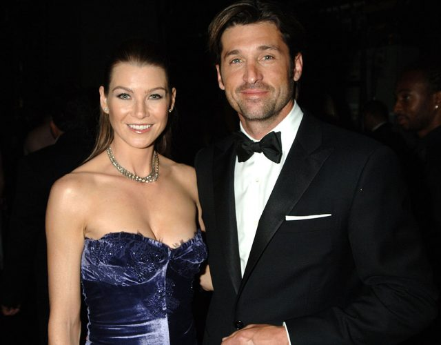 Ellen Pompeo and Patrick Dempsey as at the Emmy Awards in 2006
