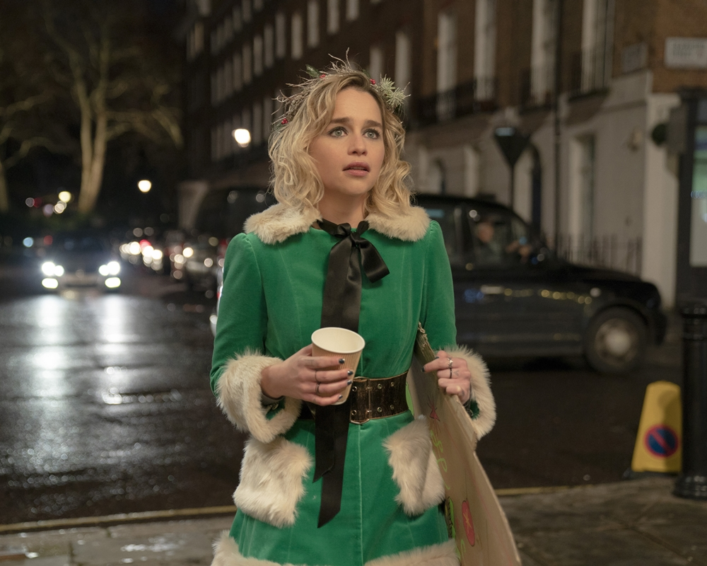 Emilia Clarke in Last Christmas, based on George Michael music