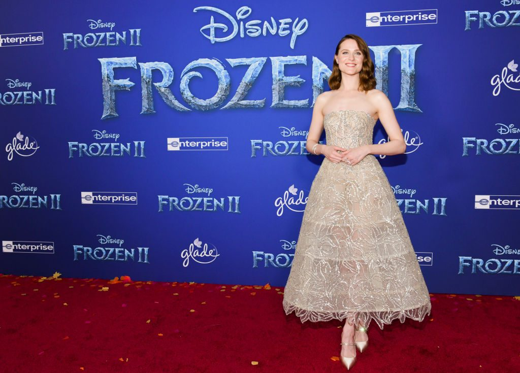 Evan Rachel Wood at the Frozen 2 premiere