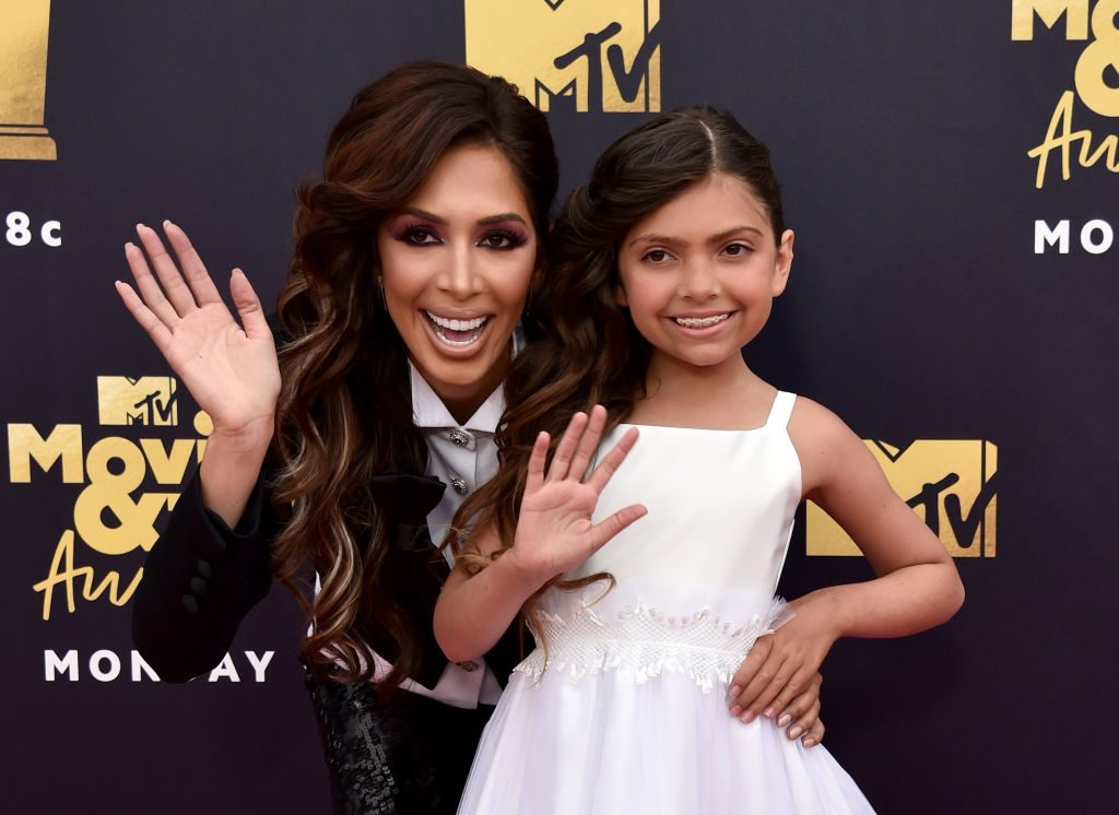 Farrah Abraham (L) and Sophia Abraham attend the 2018 MTV Movie And TV Awards