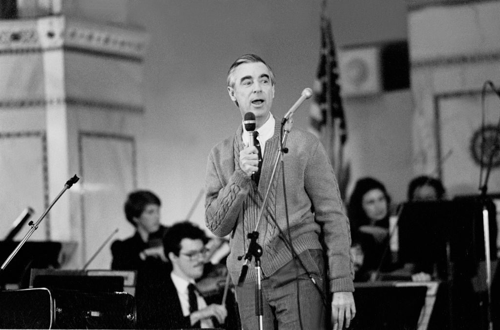 American television personality Fred Rogers, of the television show Mister Rogers' Neighborhood