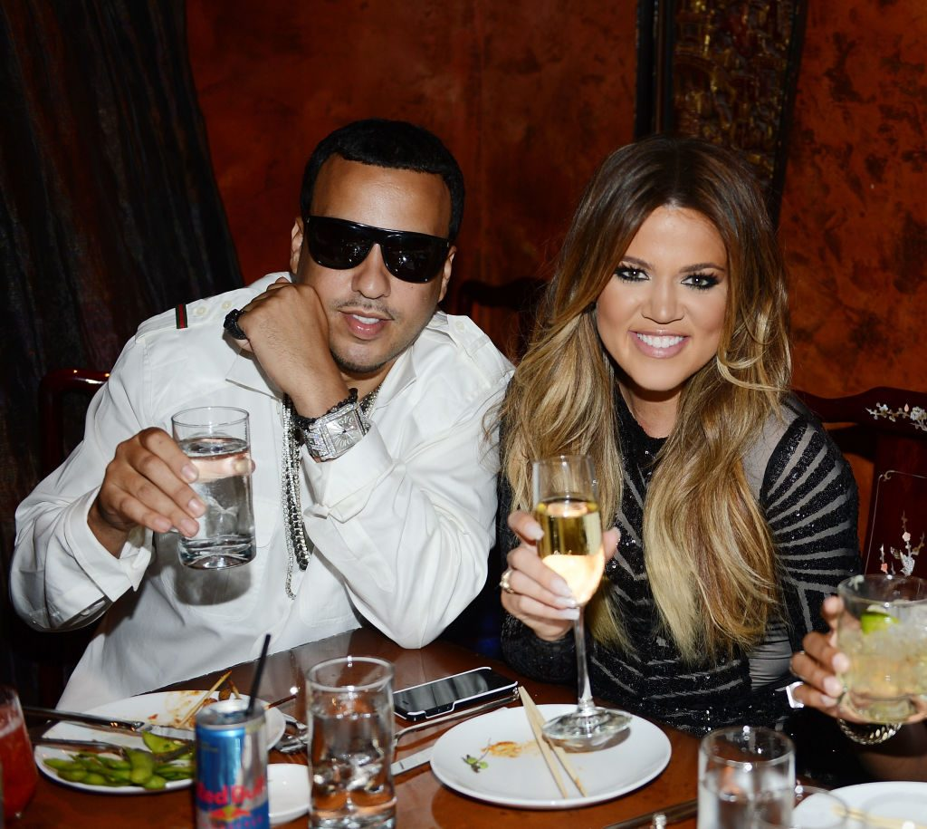 French Montana and Khloe Kardashian at a party