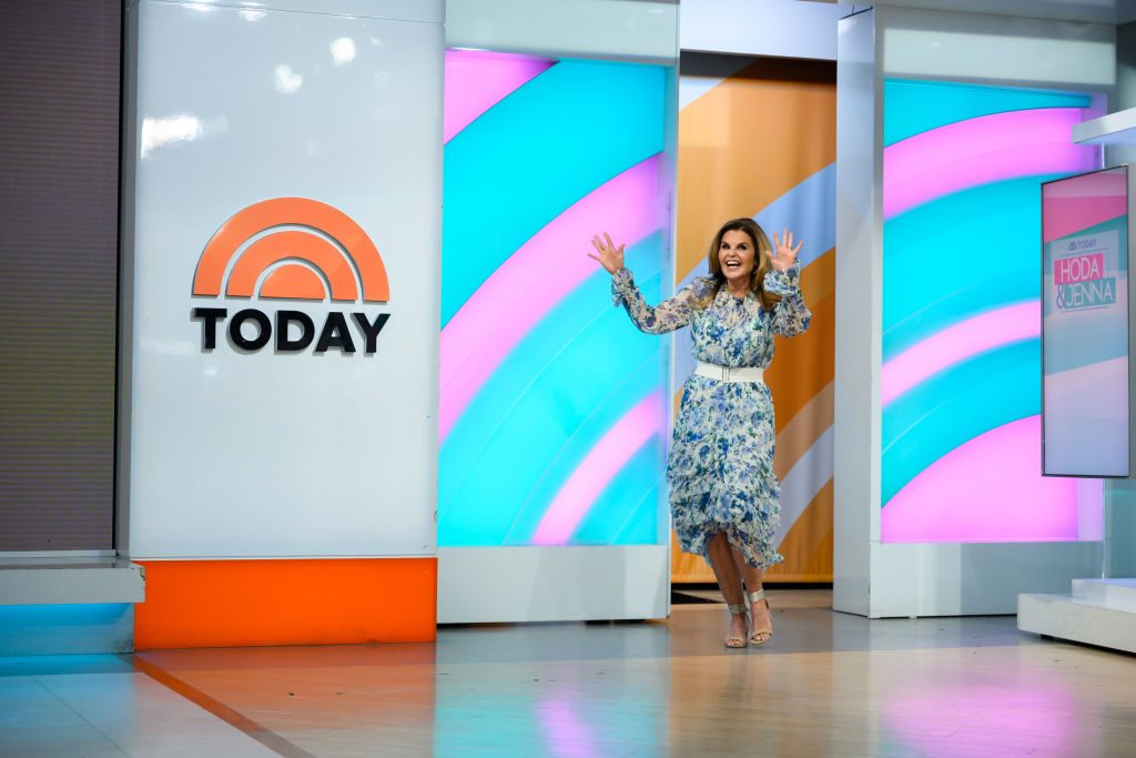 Maria Shriver on the set of 'Today'